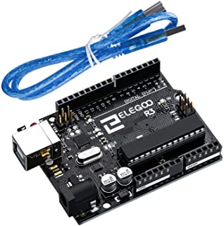 ELEGOO UNO R3 Tarjeta Placa ATmega328P ATMEGA16U2 con Cable USB y Microcontrolador Compatible con Arduino IDE Proyectos Cu...