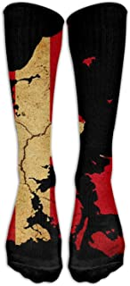 Unisex Denmark USA Flag Knee High Compression Thigh High Socks Soccer Tube Sock