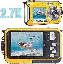 Waterproof Camera Waterproof Digital Camera Full HD 2.7K...