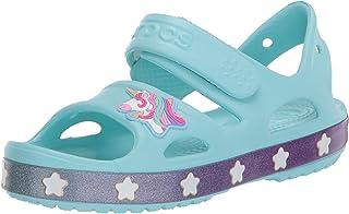 Crocs Unisex-Child 206366-4O9 Girl's Unicorn Charm Sandal|Easy on Beach and Summer Shoe