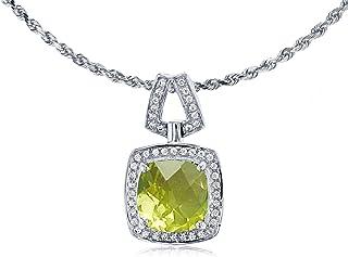 Mia Diamonds 14k Yellow Gold 8x5mm Pear Peridot bezel pendant