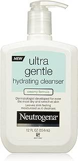 Neutrogena Ultra Gentle Hydrating Cleanser, Creamy Formula 12 oz (Pack of 4)