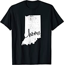 Indiana Home Love Vintage state map outline shirt T-Shirt