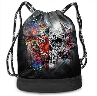 GymSack Drawstring Bag Sackpack Poly Blue Sport Cinch Pack Simple Bundle Pocke Backpack For Men Women