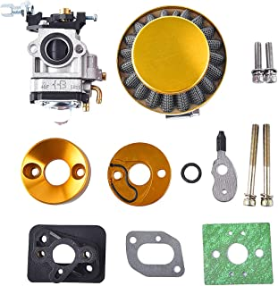 15mm Carburetor Upgrade Kit Air Filter Set Compatible with 2 Stroke 43cc 47cc 49cc Standup Gas Scooter ATV Quad Pocket Bike X-TREME XG-550 BladeZ Moby X Gold