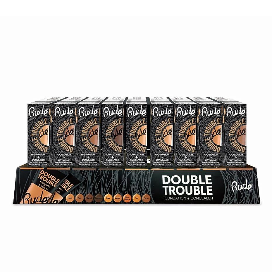 珍味彼女は神聖RUDE Double Trouble Foundation + Concealer Acrylic Display Set, 108 Pieces (並行輸入品)