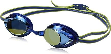 (Blue) - Speedo Jr Vanquisher 2.0 Mirrored Swim Goggles