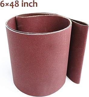 Aiyard 6 x 48-Inch Aluminum Oxide Sanding Belts, 40/80/120/150/240/400 Assorted Grits..