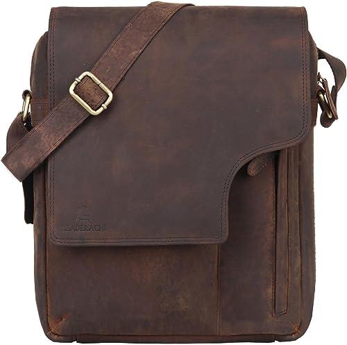 Leaderachi Hunter Leather Messenger Bag [Apulia-Muskat] product image