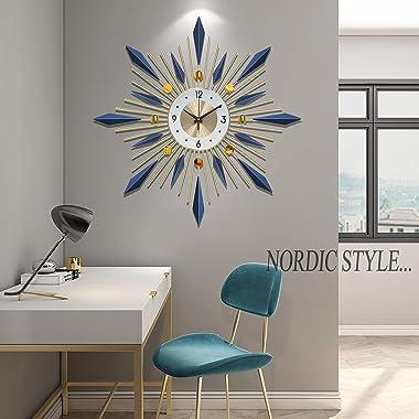 Wall Clock for Living Room Decor Mid Century Modern Wall Clock Sunburst Decoration Wall Clock for Kitchen Bedroom …