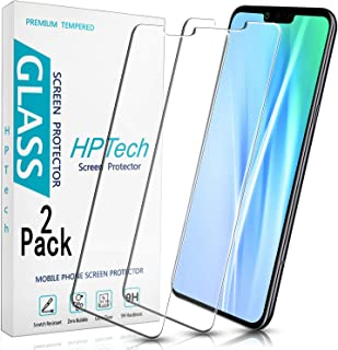 HPTech LG G8 ThinQ Screen Protector - (2-Pack) Tempered Glass Film for LG G8 ThinQ Screen Protector Easy to Install, Bubbl...