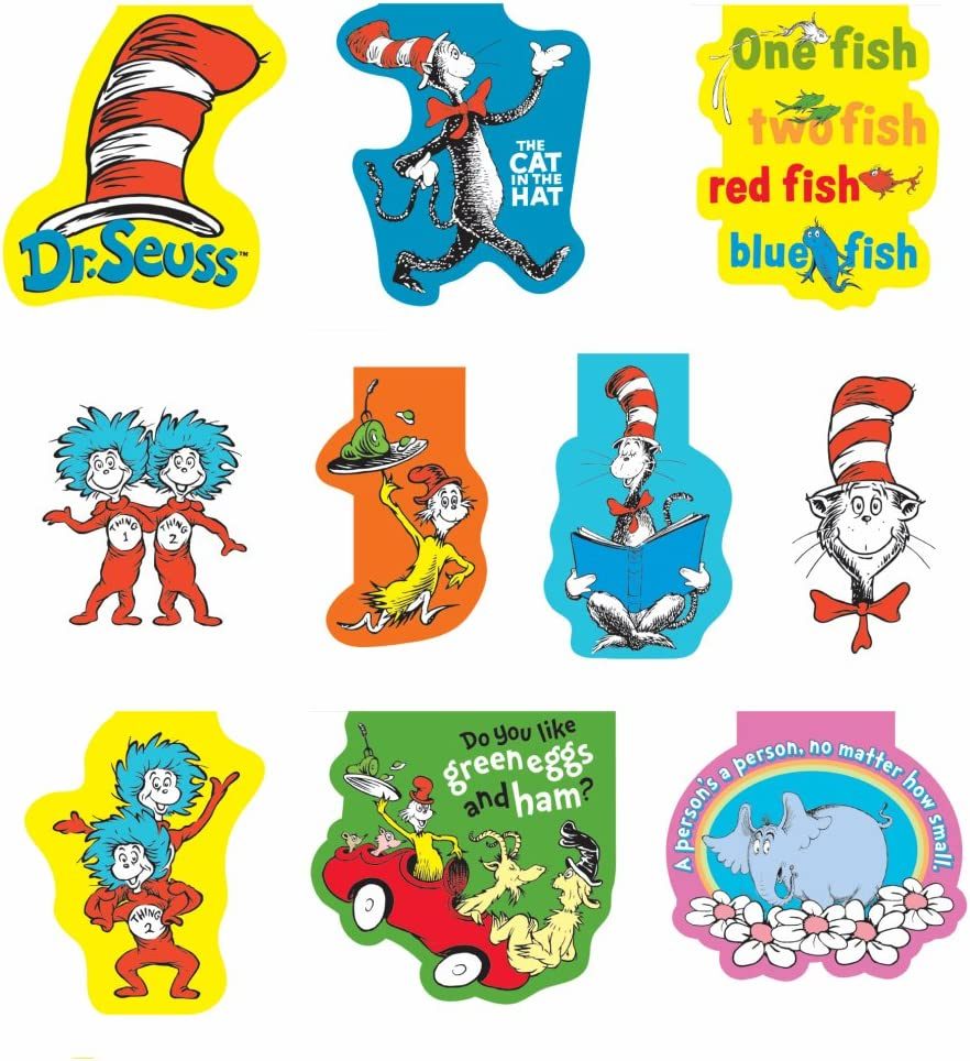 Raymond Geddes 68502 Ranking TOP10 Dr Seuss Ki Inexpensive Assorted for Bookmarks Magnetic