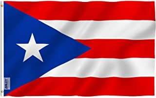 Best Anley Fly Breeze 3x5 Foot Puerto Rico Flag - Vivid Color and Fade Proof - Canvas Header and Double Stitched - Puerto Rican National Flags Polyester with Brass Grommets 3 X 5 Ft Reviews