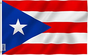 Anley Fly Breeze 3x5 Foot Puerto Rico Flag - Vivid Color and Fade Proof - Canvas Header and Double Stitched - Puerto Rican...