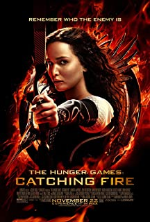 The Hunger Games 2 : Catching Fire (2013) - Remember Who The Enemy Is - 13 in x 19 in Movie Poster Flyer BORDERLESS + Free 1 Tile Magnet