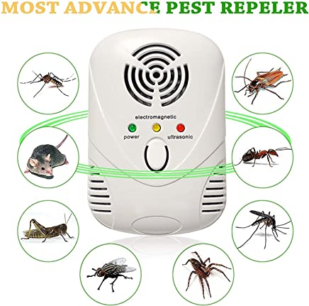 KACOOL Ultrasonic Pest Repeller, Home Pest Reject Control Device Ultrasonic and Electromagnetic Dual Frequency Rodent Lizard Repellent for Mouse, Mice, Bug, Ant,Mosquito,Mice,Flea,Fly,Spider,Roach,Rat