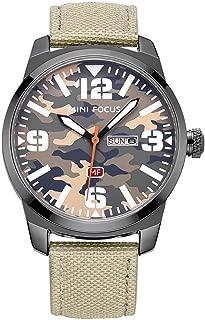 Military Wristwatch Fashion Camouflage Dial Men's Quartz Analog Watch Casual Nylon Strap Waterproof Watch