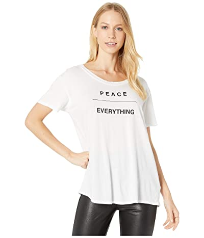 good hYOUman Gabrielle Peace/Everything Tee (Optic White) Women