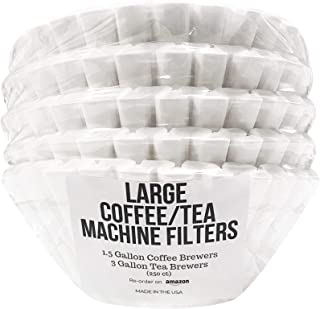 DRINK KATY'S Extra Large Commercial Coffee/Tea Filters - Compatible with 1.5 to 3 Gallon Bunn, Fetco & Curtis Machines - Quality, No Mess, Bigger Than Store Bought - 13