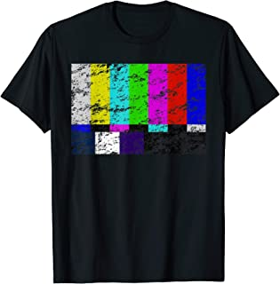 Color Bars TV Test Pattern T Shirt - Television Color Broadc