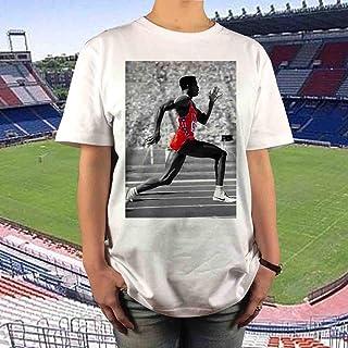 カールルイス オリンピック Tシャツ S M L XL 陸上 100m 金メダル ボルト ビッグ オーバーサイズ XXL 3XL 4XL 5XL ロンT 長袖 黒 対応