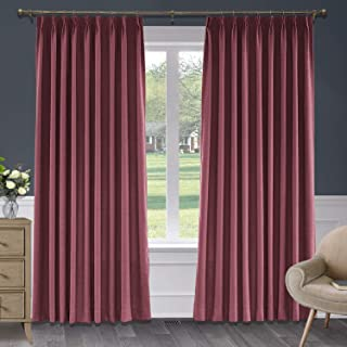 red panel curtains