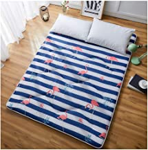 Futon Tatami Mattress,Student Dormitory Folding Mattress,Portable Thicken Pad Tatami Floor mat,Single/Double Mattress,Blue