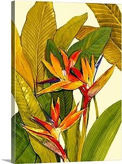 Tropical Bird of Paradise Canvas Wall Art Print, 18