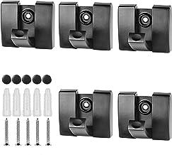 QWDLID Folding Hideaway Coat Hooks, Space Aluminum Heavy Duty Wall Hooks, Retractable Hooks for Hanging Jackets, Coats, Ba...