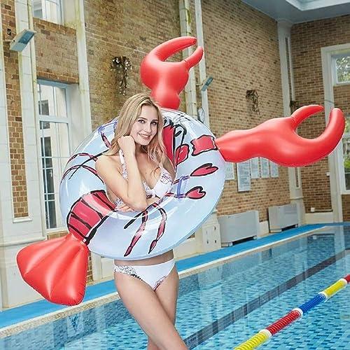 aquí tiene la última El Flotador Inflable Gigante De De De La Nadada del Anillo De La Piscina De Los Adultos, Playa Al Aire Libre Juguete De Agua Grueso Flota Nadar Nadar Anillos,Lobster  mas preferencial