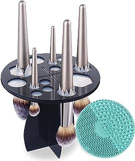 CINEEN Rangement Pinceaux Maquillage Boite Rangement Maquillage Nettoyeur Pinceau MaquillagePorte pinceau maquillage+Tam...