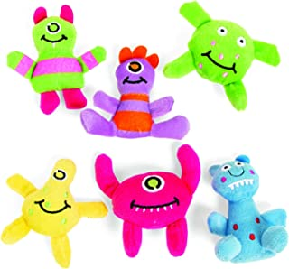 Fun Express Monsters Plush (1 Dozen) Party Favors, Halloween and Toy Crane Fillers