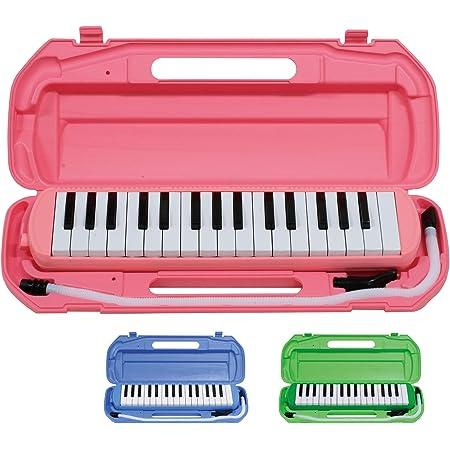 キクタニ 鍵盤ハーモニカ 32鍵 ピンク 取扱説明書兼保証書、名前シール付 MM-32 PINK