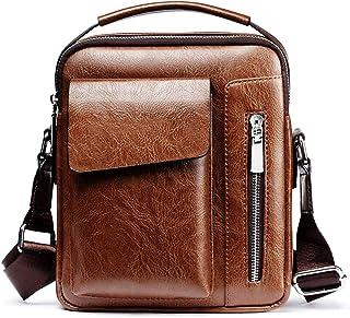 Sac Bandoulière Sacoche Homme Sacs à Bandoulière Cuir Sacoche Sac Porté épaule Shoulder Bag pour Téléphone Portable pour V...