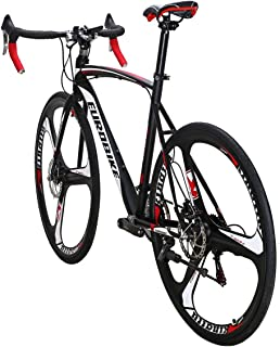 Eurobike Road Bike TSM XC550 Bike 21 Speed Dual Disc Brake 54CM 3-Spoke Wheels Bicycle