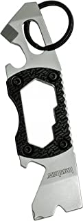 Kershaw PT-2 Compact Keychain Pry Tool (8810X); Features Bottle Opener, Two Screwdriver Tips, Pry Bar, Wire Sc, Three Hex ...