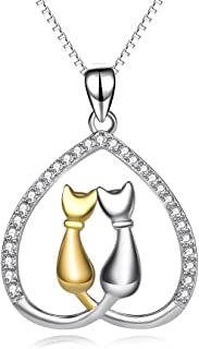 Sterling Silver Cat Lady Gifts for Women Cat Lovers...