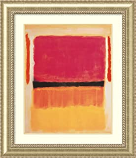 Framed Wall Art Print Untitled (Violet, Black, Orange, Yellow on White and Red), 1949 by Mark Rothko 37.25 x 43.00
