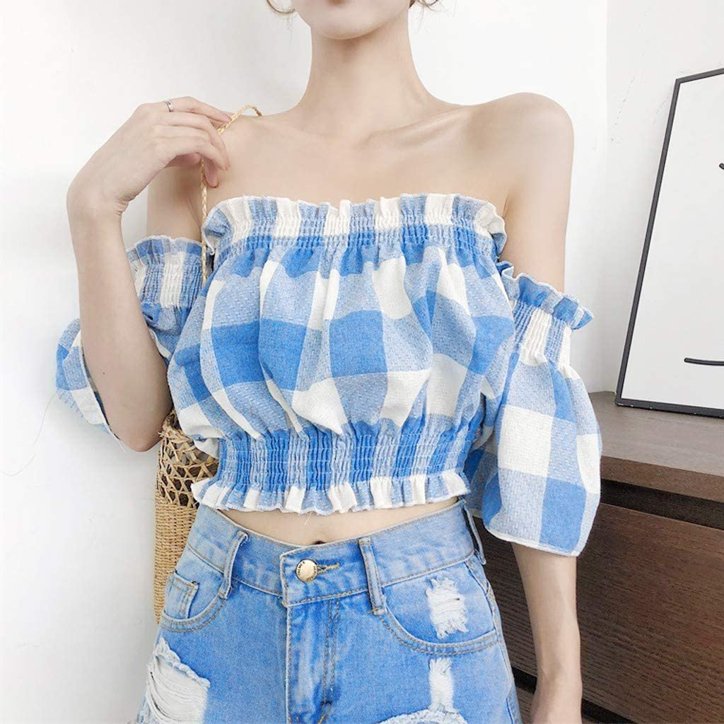 MASZONE Summer Sexy Tube Tops for Teen Girls Sweet Lattice Tank Tops Slim-fit Backless Camisole Shirt Streetwear