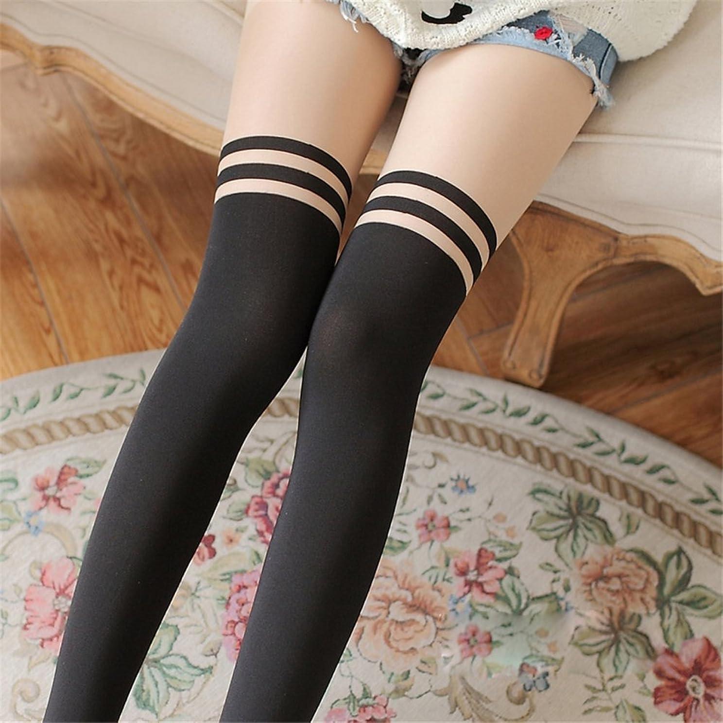 部門化学有効なAriyenai オーバーニーソックス 着圧 美脚セクシー フェイクタイツ ストッキング ニーハイニーソックス サイハイソックス 靴下