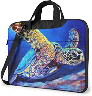 Laptop Shoulder Bag Carrying Laptop Case 14 Inch, Sea Turtles Computer Sleeve Cover with Handle, Business Briefcase Protective Bag for Ultrabook, MacBook, Asus, Samsung, Sony, Notebook