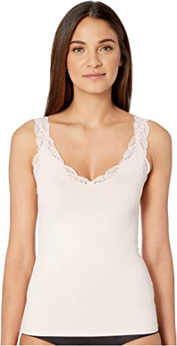 Delicious with Lace Deep V Tank Top
