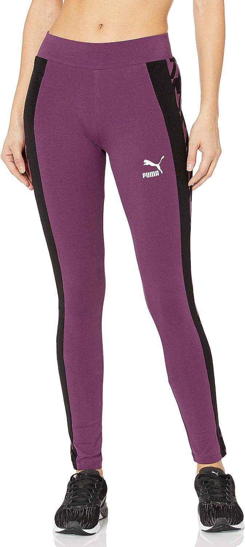 PUMA Women's Trend Many popular brands All Over Plum Print specialty shop M Leggings Purple