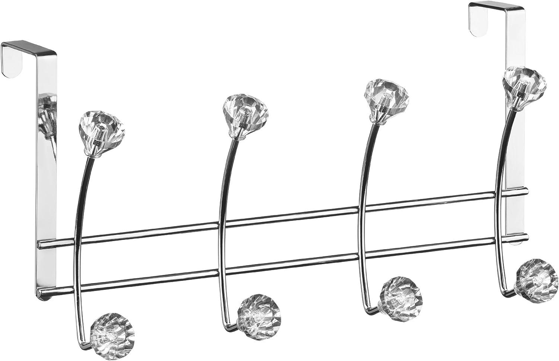 Premier Housewares Porte Manteau Mural à 8 Têtes En Forme De Diamants Chromé Amazon Fr Cuisine Maison