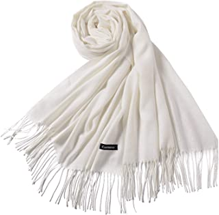 F Fityle Women Solid Color Cashmere Scarves with Tassel Lady Winter Autumn Long Scarf Thinker Warm Shawl Wrap Pashmina