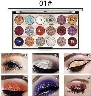 Eye Shadow 18 Colors Glitter Eyeshadow Makeup Palette Beauty Sets Shimmer Ultra Pigmented Powder Long Lasting Waterproof