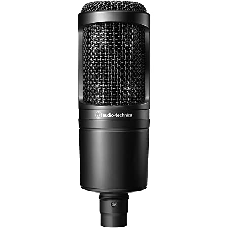 audio-technica コンデンサーマイクロホン AT2020 動画配信・宅録・ポッドキャスト・実況・DTM ブラック 【国内正規品・新パッケージ】AT2020
