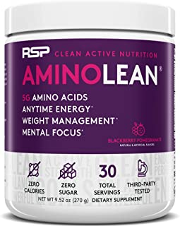 RSP Nutrition RSP AminoLean - All-in-One Pre Workout, Amino Energy, Weight Management Supplement with Amino Acids, Complet...