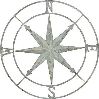 Creative Co-op Decorative Round Metal Compass Wall Décor, 41