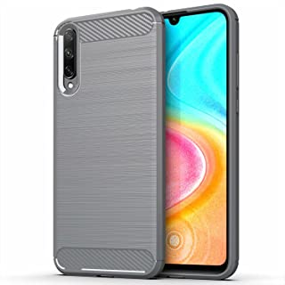 for Huawei Honor 30i Case Brushed Carbon Fiber Texture Style Ultra-thin TPU Soft rubber Anti-drop Protective Cover-Grey